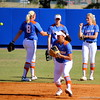 Junior Stephanie Tofft about to catch a ball while warming up during the Gator's softball game against University of Tennessee on Saturday March 16, 2013, at Katie Seashole Pressly Stadium in Gainesville, Fla. / Gator Country photo by Danielle Bloch