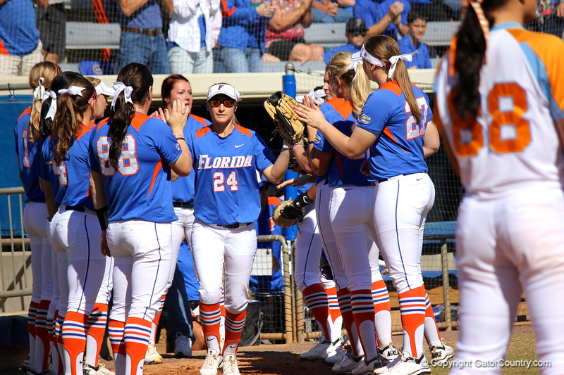 Starter Kirsti Merritt during the Gator's softball game against University of Tennessee on Saturday March 16, 2013, at Katie Seashole Pressly Stadium in Gainesville, Fla. / Gator Country photo by Danielle Bloch