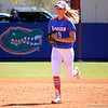Freshman Taylor Schwarz running back to the dugout at the end of the inning during the Gator's softball game against University of Tennessee on Saturday March 16, 2013, at Katie Seashole Pressly Stadium in Gainesville, Fla. / Gator Country photo by Danielle Bloch