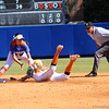 Sophomore Kathlyn Medina tagging a Vol's player out while they slide to second base during the Gator's softball game against University of Tennessee on Saturday March 16, 2013, at Katie Seashole Pressly Stadium in Gainesville, Fla. / Gator Country photo by Danielle Bloch