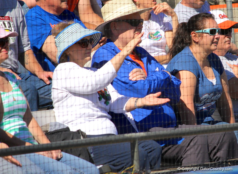 A fan gator chomping during the Gator's softball game against University of Tennessee on Saturday March 16, 2013, at Katie Seashole Pressly Stadium in Gainesville, Fla. / Gator Country photo by Danielle Bloch