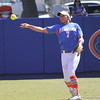 Freshman Kelsey Stewart throwing the ball during the Gator's softball game against University of Tennessee on Saturday March 16, 2013, at Katie Seashole Pressly Stadium in Gainesville, Fla. / Gator Country photo by Danielle Bloch