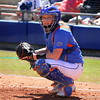 Freshman Taylore Fuller listening to advice from Head coach Tim Walton during the Gator's softball game against University of Tennessee on Saturday March 16, 2013, at Katie Seashole Pressly Stadium in Gainesville, Fla. / Gator Country photo by Danielle Bloch