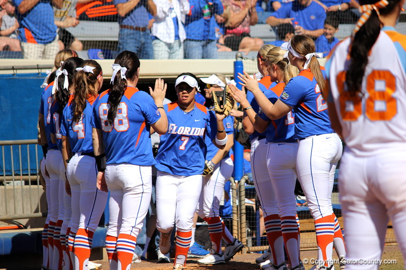 Starter Kelsey Stewart during the Gator's softball game against University of Tennessee on Saturday March 16, 2013, at Katie Seashole Pressly Stadium in Gainesville, Fla. / Gator Country photo by Danielle Bloch