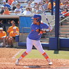 Freshman Kelsey Stewart anticipating the pitch during the Gator's softball game against University of Tennessee on Saturday March 16, 2013, at Katie Seashole Pressly Stadium in Gainesville, Fla. / Gator Country photo by Danielle Bloch