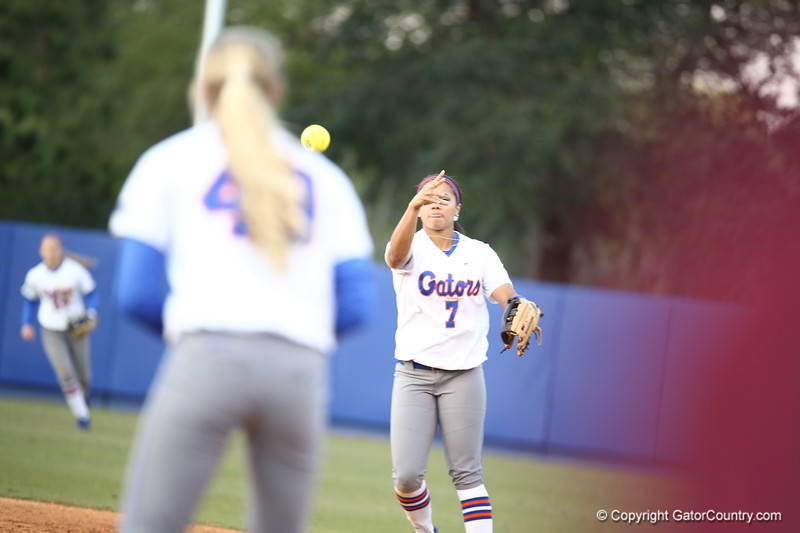 Kesey Stewart during Florida's 7-3 win over Florida State on March 27, 2013 in Gainesville, Florida.