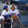 Hannah Rogers and Aubree Munro during Florida's 7-3 win over Florida State on March 27, 2013 in Gainesville, Florida.