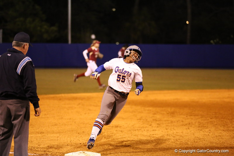 Briania Little during Florida's 7-3 win over Florida State on March 27, 2013 in Gainesville, Florida.