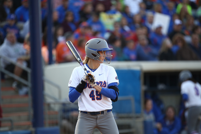 Taylor Schwarz during Florida's 7-3 win over Florida State on March 27, 2013 in Gainesville, Florida.