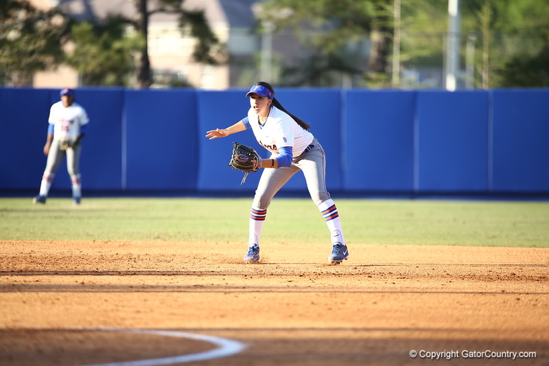 Kathlyn Medina during Florida's 7-3 win over Florida State on March 27, 2013 in Gainesville, Florida.