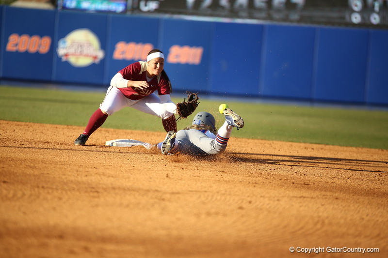 Kristi Merritt during Florida's 7-3 win over Florida State on March 27, 2013 in Gainesville, Florida.