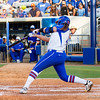 (17) Lauren Haeger takes a swing in the Florida vs Hampton game on May 17, 2013.