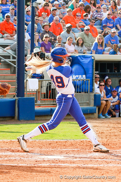 Taylor Schwarz takes a big swing early on in the Florida vs Hampton game on May 17, 2013.