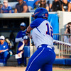 Taylore Fuller hits a pop up that is caught by Hampton ending the bottom of the third inning.