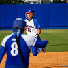 Kelsey Horton heads for third base after teammate Briana Little hits a triple in the bottom of the third inning.