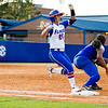 Kirsti Merritt is safe at first during the Florida vs Hampton game on May 17, 2013.