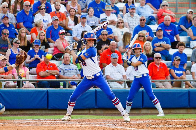 Taylor Schwarz at bat during the Florida vs Hampton game on May 17, 2013.
