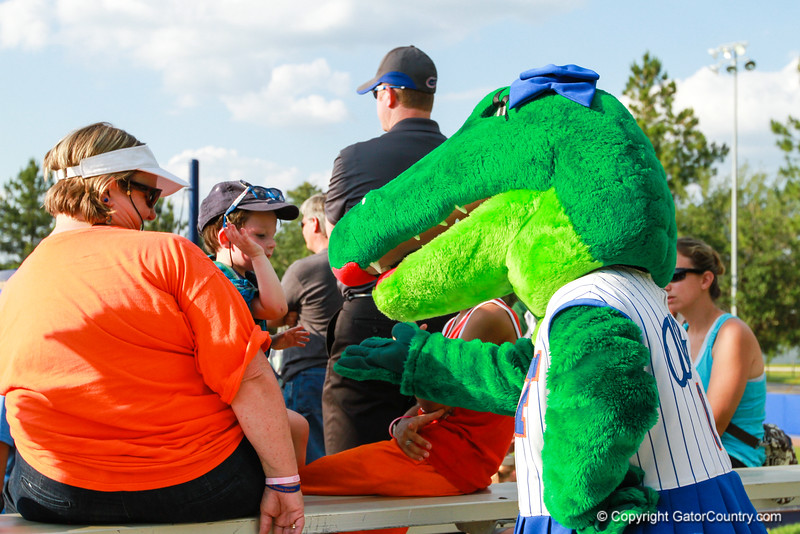 Alberta interacting with the fans at the Florida vs Hampton game on May 17, 2013.