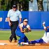 Kelsey Stewart slides safely into second against Hampton on May 17, 2013.