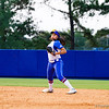 Kathlyn Medina throws for first in the final inning of the Florida vs Hampton game on May 17, 2013.