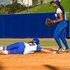 Lauren Haeger slides back safely into first during the Florida vs Hampton game on May 17, 2013.