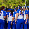 Florida huddled together during their game against Hampton on May 17, 2013.