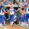 Aubree Munro enters the field at the beginning of the Florida vs Hampton game on My 17, 2013.