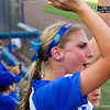 Taylor Schwarz cheering from the dugout while the Gators were at bat against Hampton on May 17, 2013.