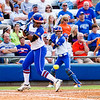Brianna Little is hit by a pitch during the Florida vs Hampton game on May 17, 2013.