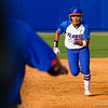 Kelsey Stewart heads for third during the Florida vs Hampton game on May 17, 2013.