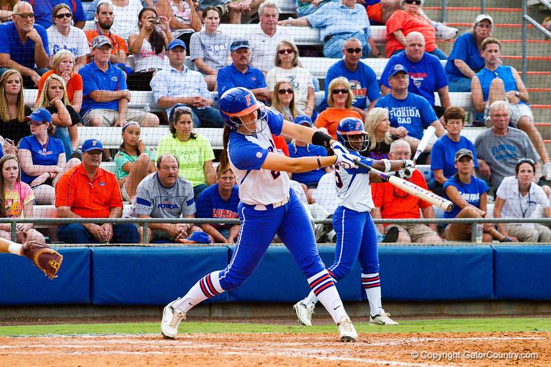 Kelsey Horton at bat during the Florida vs Hampton game on May 17, 2013.