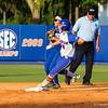 Florida's Kirsti Merritt rounds second in the Florida vs Hampton game on May 17, 2013.