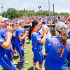 Hannah Rogers (left) Ensley Gammel (middle) - May 26, 2013 - UF vs. UAB Super Regional Game 2