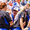 Lauren Haeger (17) and coach - May 19, 2013