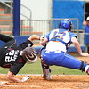 Taylore Fuller make a play at the plate during Florida's 5-6 loss to Mississippi State on Sunday, April 8th 2013 at the Katie Seashole Pressly Softball Stadium in Gainesville, Florida.