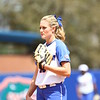 Hanna Rogers during Florida's 5-6 loss to Mississippi State on Sunday, April 8th 2013 at the Katie Seashole Pressly Softball Stadium in Gainesville, Florida.