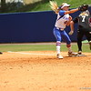 Taylor Schwarz catches at first during Florida's 5-6 loss to Mississippi State on Sunday, April 8th 2013 at the Katie Seashole Pressly Softball Stadium in Gainesville, Florida.