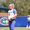 Alyssa Bache comes in to pitch in relief of Hannah Rogers during Florida's 5-6 loss to Mississippi State on Sunday, April 8th 2013 at the Katie Seashole Pressly Softball Stadium in Gainesville, Florida.