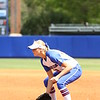 Taylor Schwarz gets ready during Florida's 5-6 loss to Mississippi State on Sunday, April 8th 2013 at the Katie Seashole Pressly Softball Stadium in Gainesville, Florida.