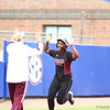 Mississippi State's Briana Bell celebrates her home run during Florida's 5-6 loss to Mississippi State on Sunday, April 8th 2013 at the Katie Seashole Pressly Softball Stadium in Gainesville, Florida.