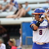 Stephanie Tofft at bat during Florida's 5-6 loss to Mississippi State on Sunday, April 8th 2013 at the Katie Seashole Pressly Softball Stadium in Gainesville, Florida.