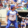 Lauren Haeger at bat during Florida's 5-6 loss to Mississippi State on Sunday, April 8th 2013 at the Katie Seashole Pressly Softball Stadium in Gainesville, Florida.