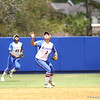 Kelsey Stewart waves for a catch during Florida's 5-6 loss to Mississippi State on Sunday, April 8th 2013 at the Katie Seashole Pressly Softball Stadium in Gainesville, Florida.