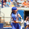 Kelsey Horton bats during Florida's 5-6 loss to Mississippi State on Sunday, April 8th 2013 at the Katie Seashole Pressly Softball Stadium in Gainesville, Florida.