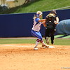 Taylor Schwarz makes a play at first base during Florida's 5-6 loss to Mississippi State on Sunday, April 8th 2013 at the Katie Seashole Pressly Softball Stadium in Gainesville, Florida.