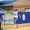 Taylore Fuller celebrates after hitting a grand slam during Florida's 5-6 loss to Mississippi State on Sunday, April 8th 2013 at the Katie Seashole Pressly Softball Stadium in Gainesville, Florida.