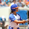 JEssica Damico shows a bunt during Florida's 5-6 loss to Mississippi State on Sunday, April 8th 2013 at the Katie Seashole Pressly Softball Stadium in Gainesville, Florida.