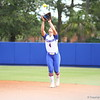 Jessica Damico catches a fly ball during Florida's 5-6 loss to Mississippi State on Sunday, April 8th 2013 at the Katie Seashole Pressly Softball Stadium in Gainesville, Florida.