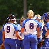 Team meeting during Florida's 5-6 loss to Mississippi State on Sunday, April 8th 2013 at the Katie Seashole Pressly Softball Stadium in Gainesville, Florida.