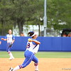 Stephanie Tofft throws to first during Florida's 5-6 loss to Mississippi State on Sunday, April 8th 2013 at the Katie Seashole Pressly Softball Stadium in Gainesville, Florida.